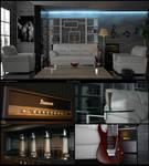 Modern livingroom and ibanez