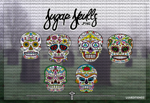 Sugar Skulls .png by LuuEditionss