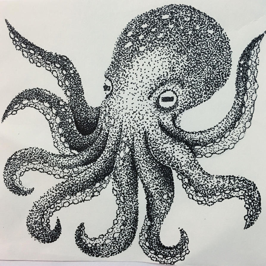 Octopus Pointillism Piece by MintMaker