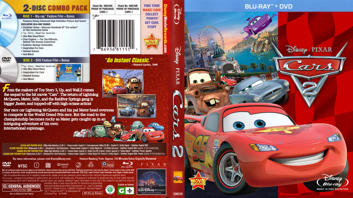 Disney Cars And Cars  Dvd