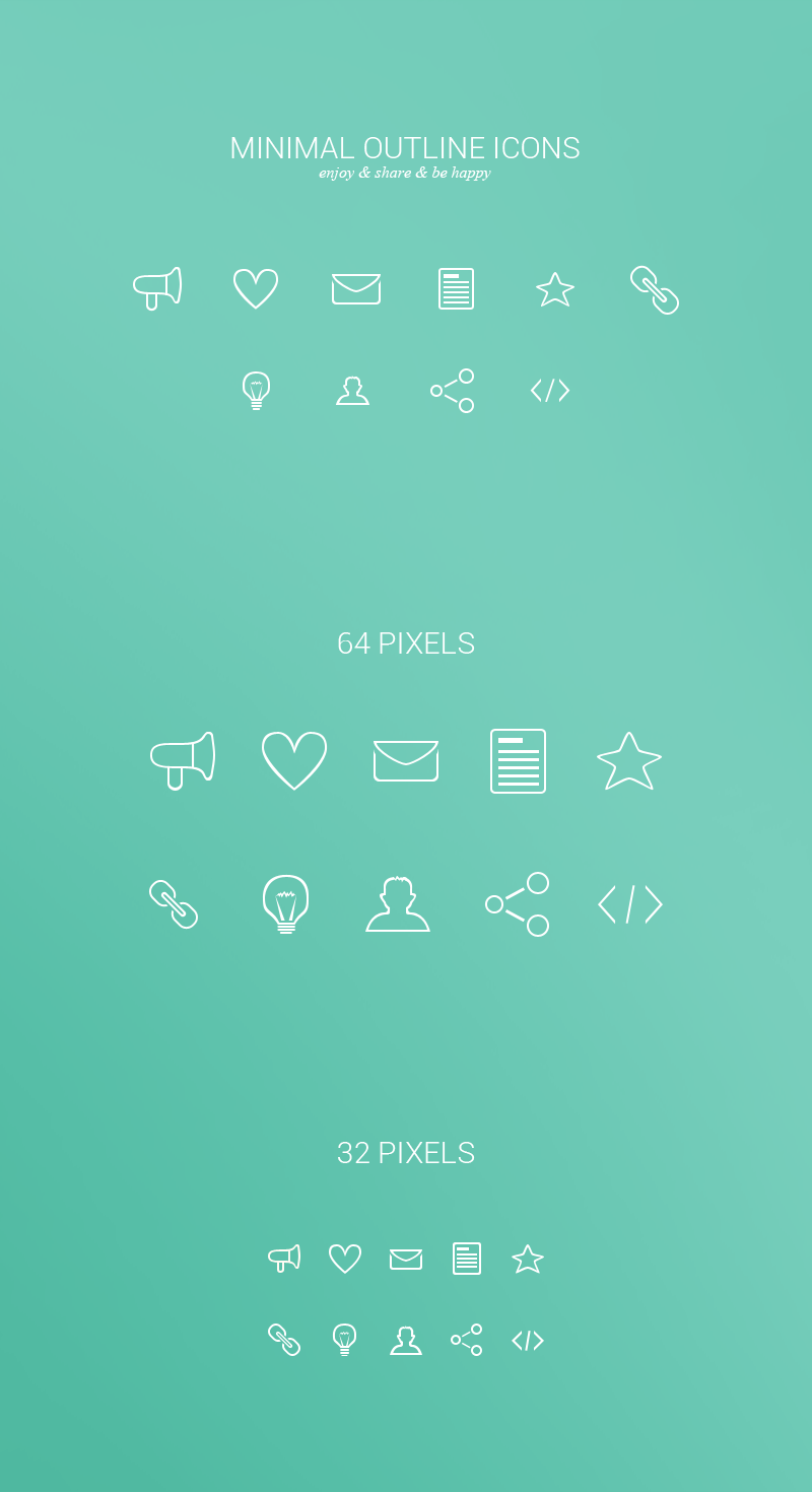 Minimal Outline Icons Freebie by Clavicus14