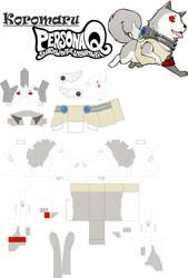 Koromaru Papercraft - Persona 3 by Drawer-sama