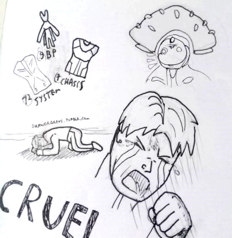 Inktober2018 - Cruel RNG by Drawer-sama
