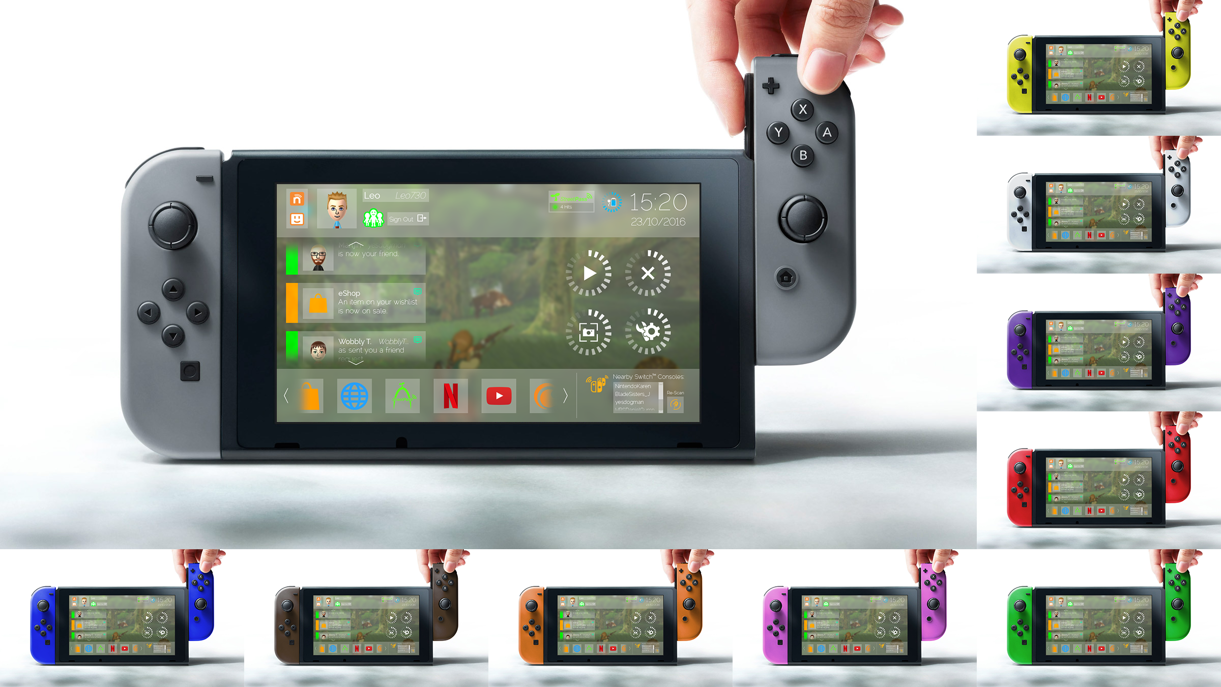 Nintendo Switch nxOS [Concept v2] by unkemptdoodlings