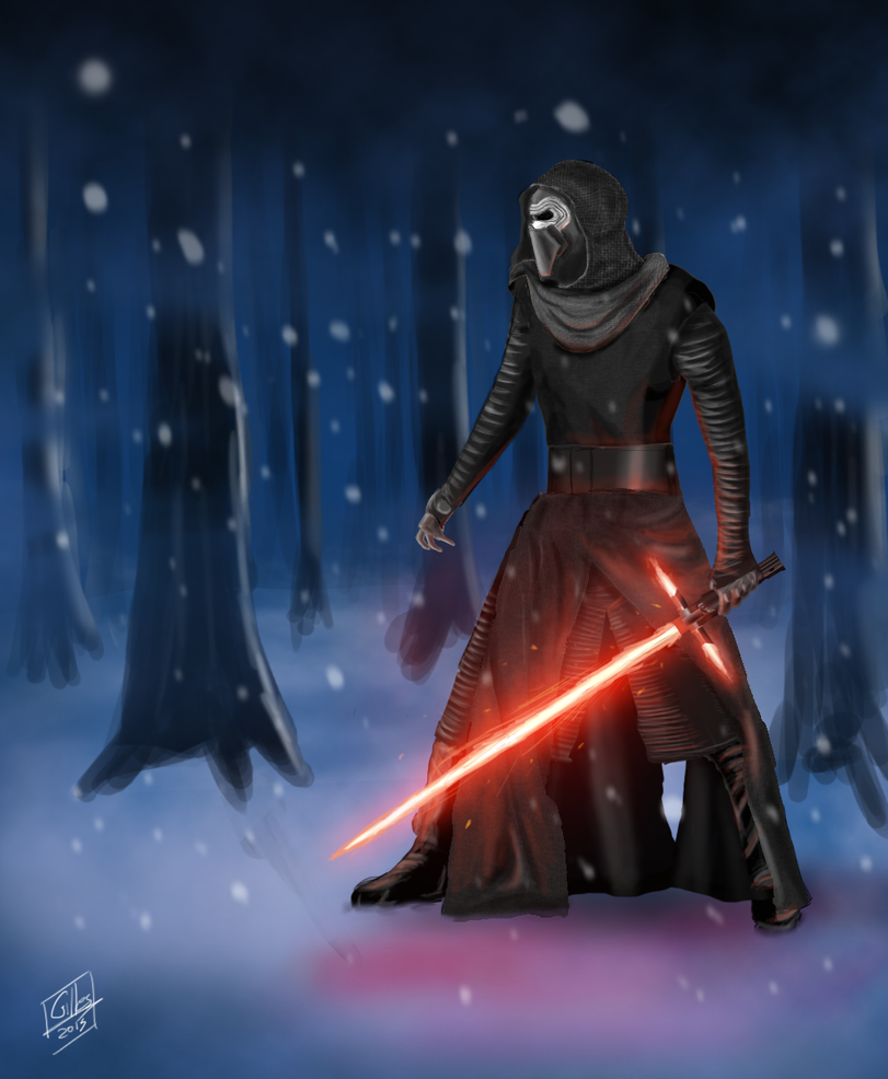Kylo Ren - Star Wars: The Force Awakens Fan Art by GillesMareschalArt