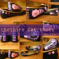 Cheshire Cat shoes by lemonessence