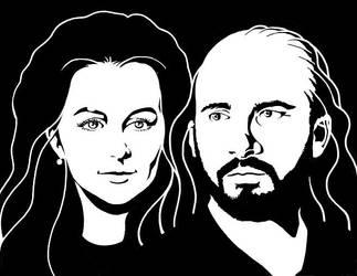 Huguette et Jordi Bonet en ombre et lumiere