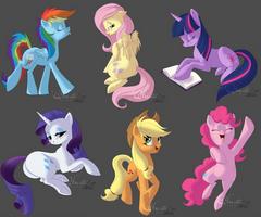 Pony set 2 by hecatehell