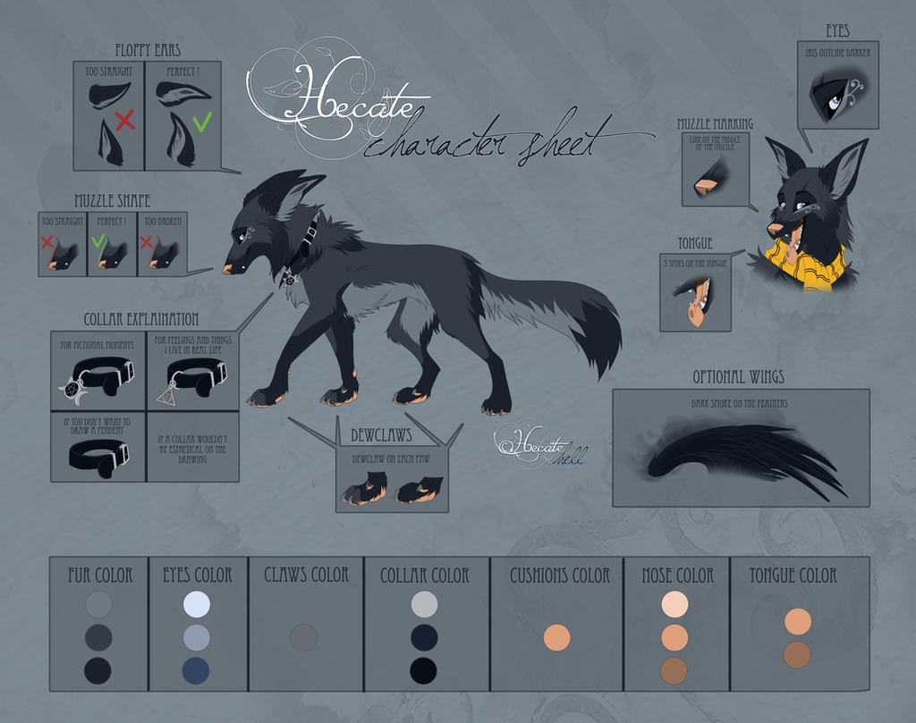 Character sheet Hecate 2017 by hecatehell