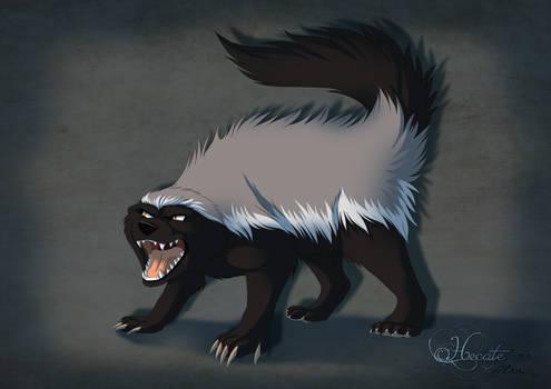 animaltober 12 - Honey badger
