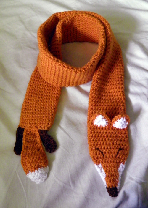 Free Crochet Patterns Fox Scarf : Fox Scarf by theCuddlyCephalopod on DeviantArt