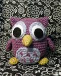 Purple Owl Amigurumi