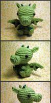 Crochet chibi dragon