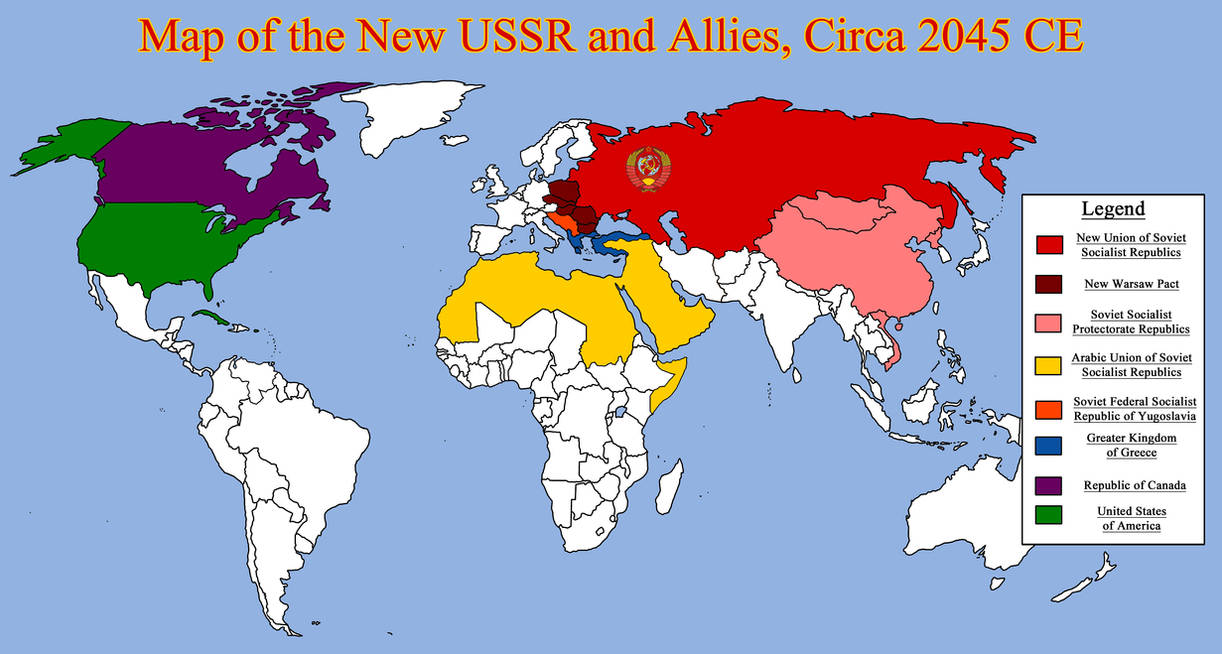 Map of the New USSR and Allies, Circa 2045 CE by RedRich1917 ...
