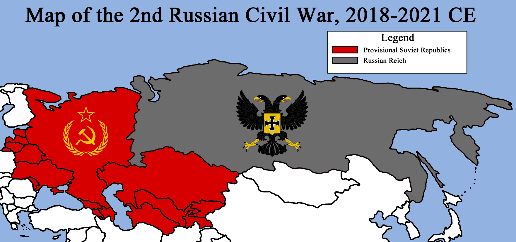 map of the 2nd russian civil war 2018 2021 ce by redrich1917 on