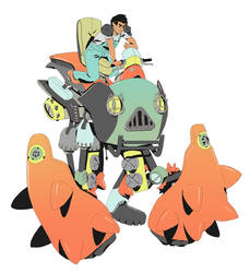 Robot boy driver by catlee