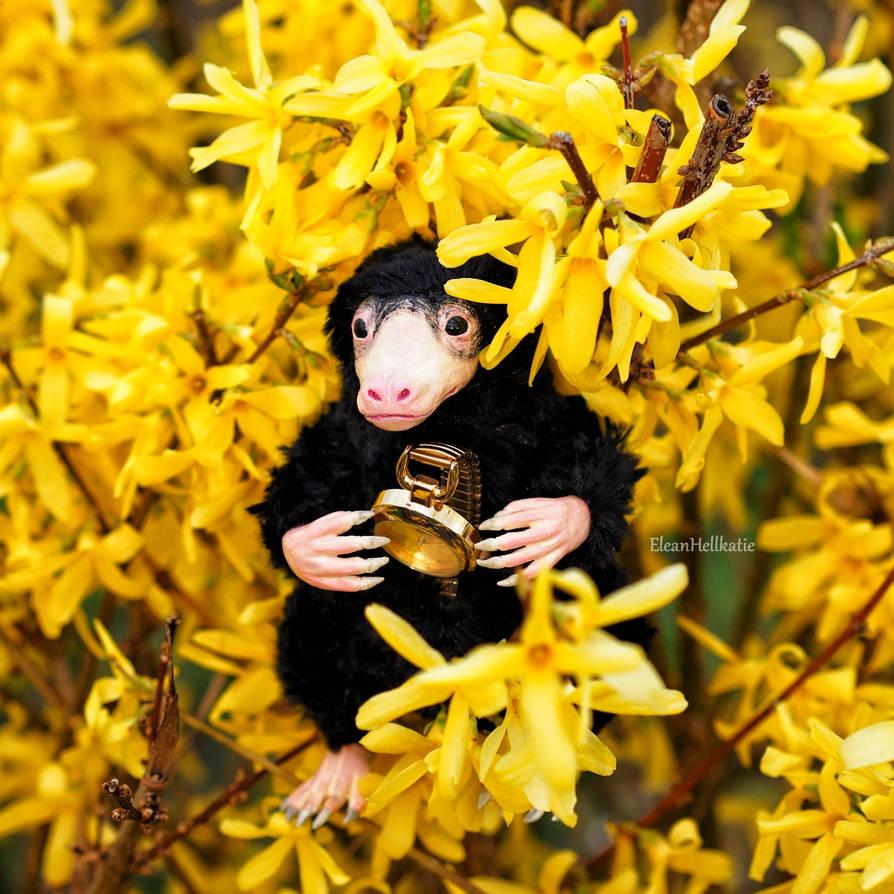Poseable art doll Niffler by EleanHellkatie