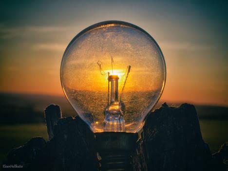Sunset in a light bulb