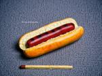 Polymer clay hotdog by EleanHellkatie