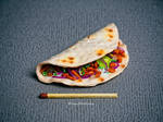 Polymer clay taco by EleanHellkatie