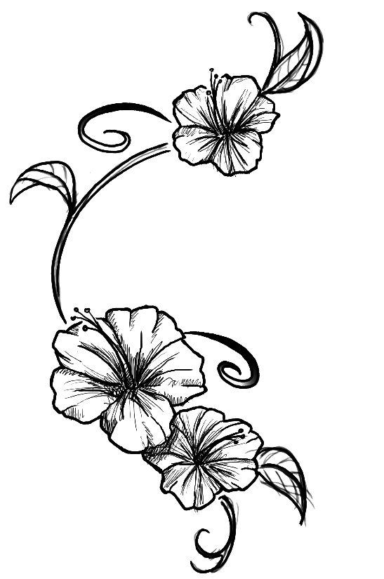 Line Art Flower Tattoo : Flowers tattoo by kupo nut on deviantart