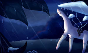 Nighttime Rainshower