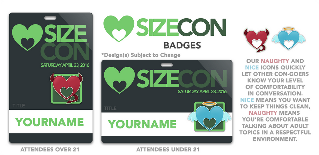 SizeCon Badges!! by SizeCon