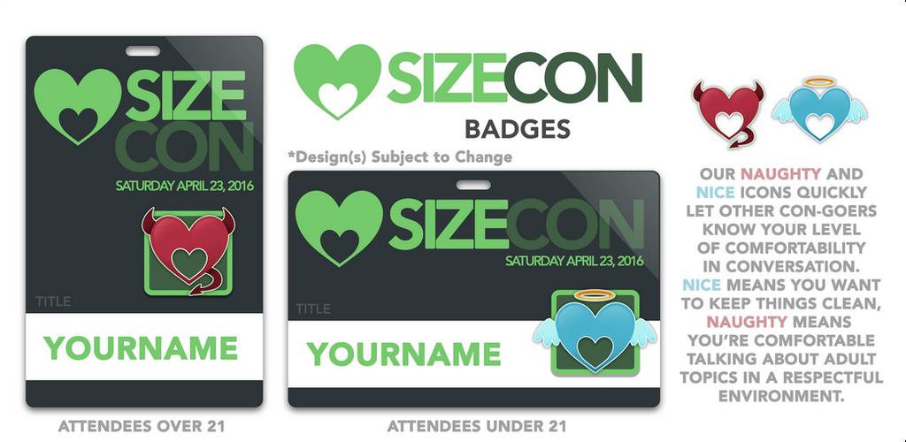 SizeCon Badges!! by SizeCon