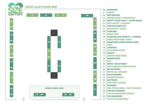 SizeCon17 Floormap + LAST UPDATE!