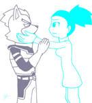 Kimeria and Wolf by StarWarriorRobby