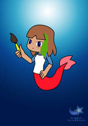 Mermay Day 8- Robin the Mermaid by StarWarriorRobby