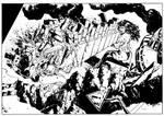 Catfight 02: Supergirl vs She Hulk by FrancescoTrifogli