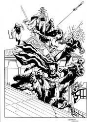Batman and Psylocke commission by FrancescoTrifogli