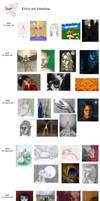Artwork timeline