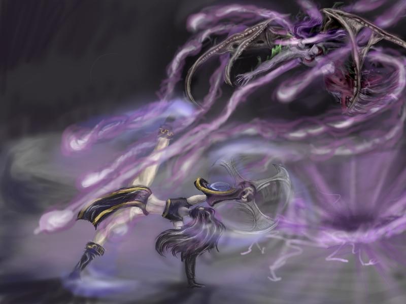 Morgana vs Sivir +battle+ by gerrd