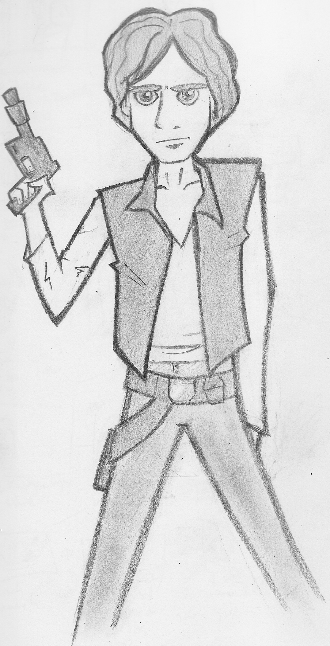 han solo sketch by raccooninasuit on deviantart