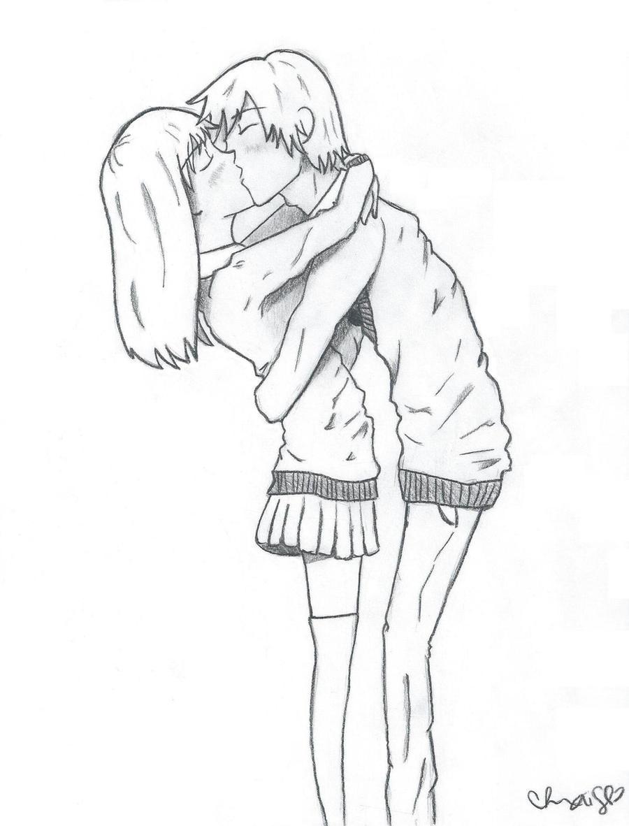 Drawing Kissing Anime Kiss Sketch