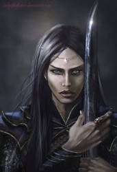 Maeglin Lomion and the Black Sword - Evil in Arda by SaMo-art