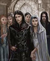 Half Noldor - Aredhel and Maeglin return by SaMo-art