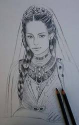 Sketch in progress - Silmarien of Numenor by SaMo-art