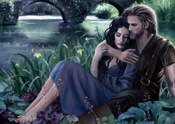 Beren and Luthien in Tol Galen by SaMo-art
