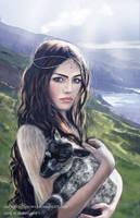 Queen Ancalime the Princess Shepherdess by SaMo-art