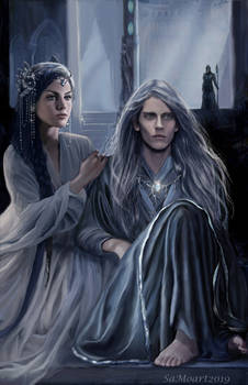 Thingol and Melian by SaMo-art