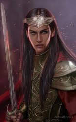 Feanor and the Silmarils by SaMo-art
