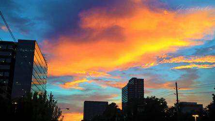 Hot Urban Evening by Gensotsuki
