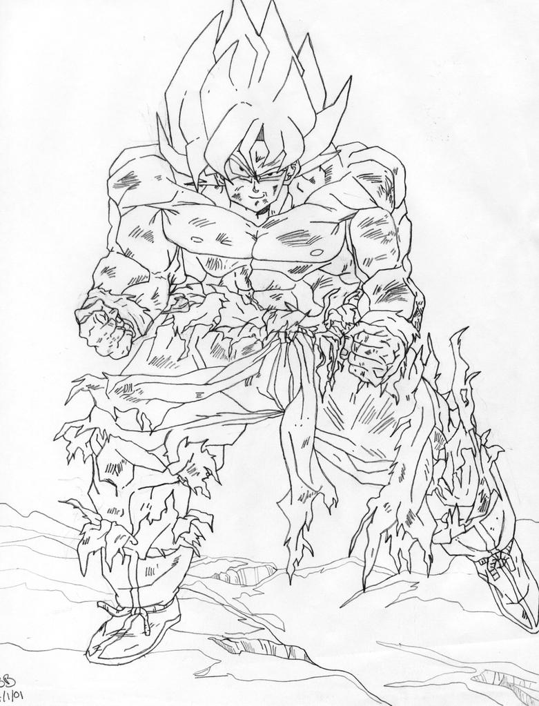 Goku pencil by imcheeks