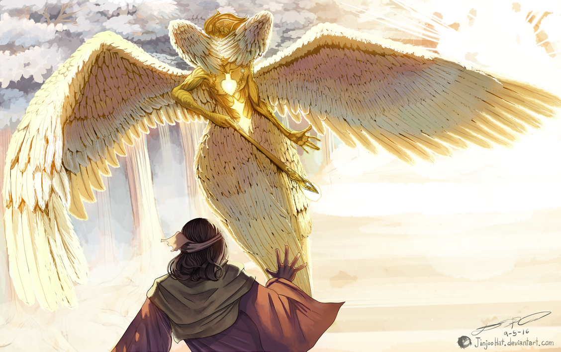 Isaiah and the Seraphim by JinjooHat on DeviantArt