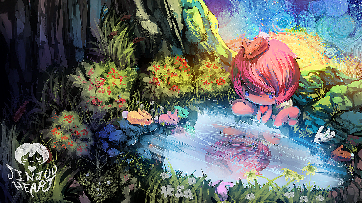 Somewhere There's A World Beyond This Pond... by JinjooHeart