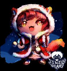 Christmas Chibi: Fox Girl by JinjooHeart