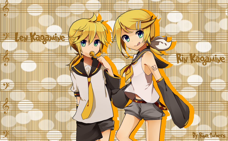 "¡Feliz 7 ""cumpleaños"" Rin y Len! Len_and_rin_kagamine_wall_by_rina_imbers-d3hbocs"